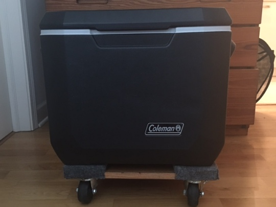 "50 qt cooler on 18""x12.25"" dolly"