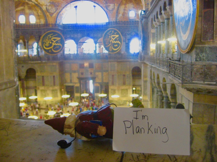 Knome planking in the Hagia Sophia Istanbul, Turkey