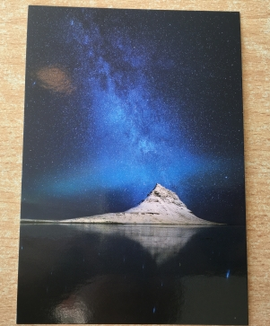 Kirkjufell Mountain at Night Postcard