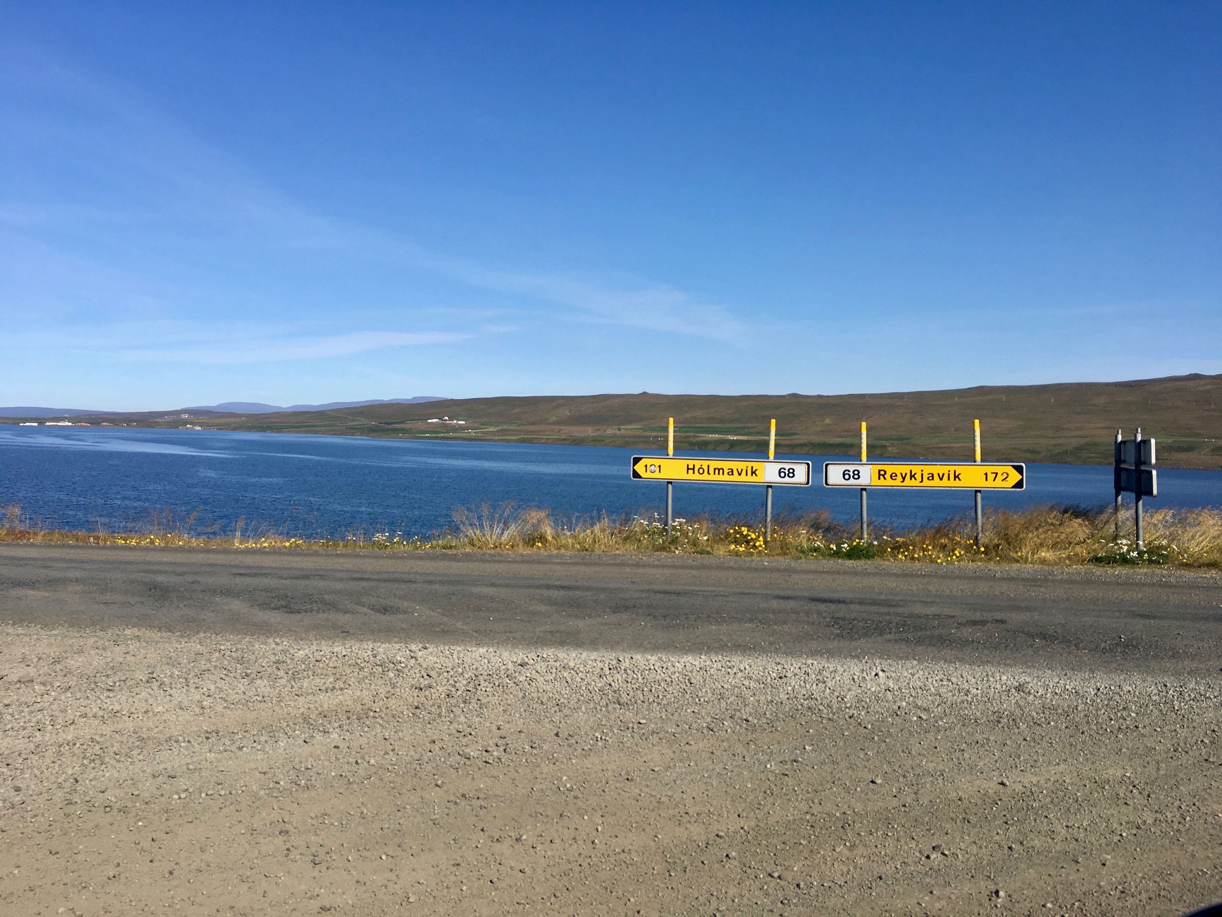 Iceland road signs